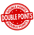 double points grunge rubber stamp vector image vector image