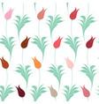 elegant iznik style tulips seamless pattern vector image vector image