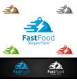 fast food restaurant logo vector image vector image