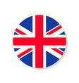 flag uk round union jack british icon circle vector image vector image