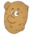 Fresh potato cartoon vector image