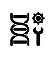 genetic engineering black glyph icon vector image