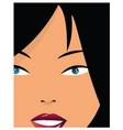girl closeup vector image vector image