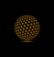 globe snowflake planet snowflakes vector image