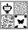 Gothic romantic cards collection Scrap booking vector image vector image