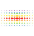 guard spectral halftone grid vector image vector image