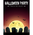 Halloween Card with gravestones vector image vector image