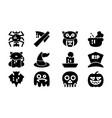 halloween celebration icon template set vector image vector image