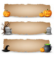halloween horizontal banners vector image