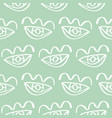 hand drawn eye doodles seamless background vector image
