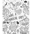 have a magical day card with real magical and vector image