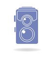 Hipster photo or camera icon Retro old photo vector image