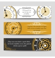 Horizontal banners with watches vector image vector image