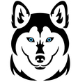 Husky dog tattoo vector image vector image