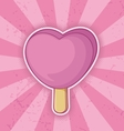icecream pink heart vector image vector image