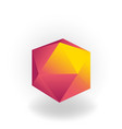 icosahedron - 3d geometric shape with holographic vector image vector image