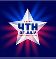independence day 4th july star background vector image vector image