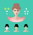 infographics set of women icons with vector image