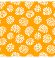 Ink seamless pattern with flowers in sketchy style vector image