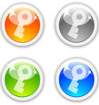Key buttons vector image vector image