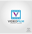 letter v video film logo template vector image