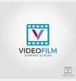 letter v video film logo template vector image vector image