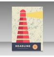 Lighthouse design for brochure vector image