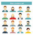 man avatars set in flat style vector image