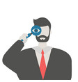 man with a magnifying glass man with a magnifying vector image vector image