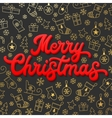 Merry Christmas Red 3d Xmas lettering inscription vector image vector image