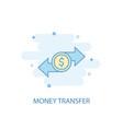 money transfer line concept simple line icon vector image