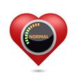 Normal blood pressure digital concept vector image