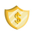 payments online shield money dollar flat icon vector image