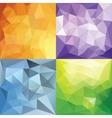 Polygonal Geometric backgrounds vector image vector image