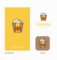 pop corn company logo app icon and splash page vector image vector image