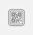 qr code modern icon or symbol vector image
