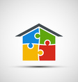 real estate in the form of puzzles vector image vector image