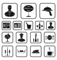 restaurant and bar black icons in set collection vector image vector image