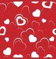 seamless background with hearts 5 vector image vector image