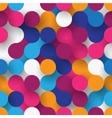 Seamless flat circles vector image