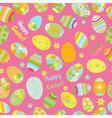 seamless multicolored pattern easter eggs vector image vector image