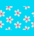 seamless pattern with plumeria flowers decorative vector image