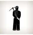 Silhouette Miner vector image vector image