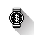 smart watch dollar sign icon mobile banking and vector image vector image