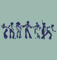 soul party time dancers of funk or disco vector image vector image