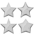 stone stars icons for ui game vector image vector image