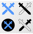 swords eps icon with contour version vector image