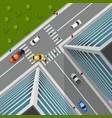 Top View On City Crossroad vector image vector image