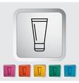 Tube icon vector image vector image