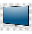 tv screen flat lcd led vector image vector image